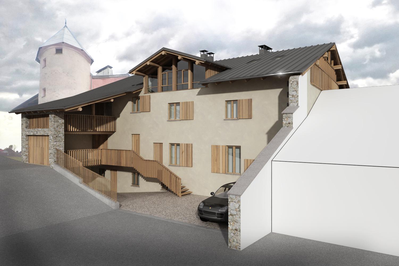 été 2020: Réhabilitation d'une maison de village à Séez (73)